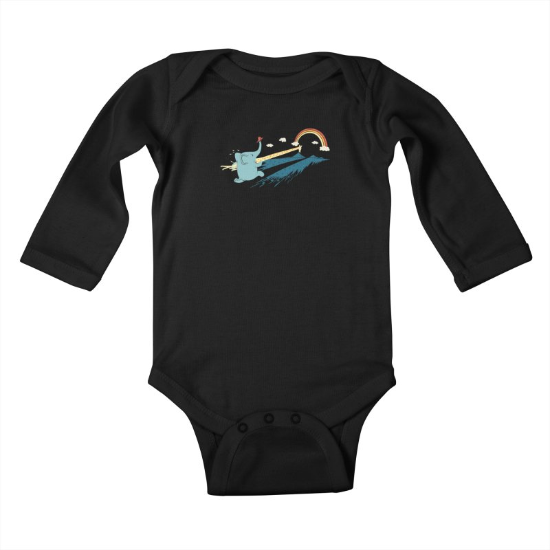 Over the rainbow Kids Baby Longsleeve Bodysuit by ilovedoodle's Artist Shop