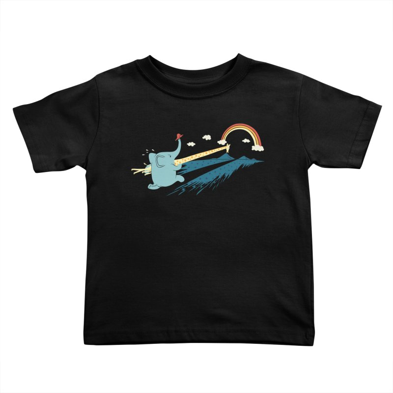 Over the rainbow Kids Toddler T-Shirt by ilovedoodle's Artist Shop
