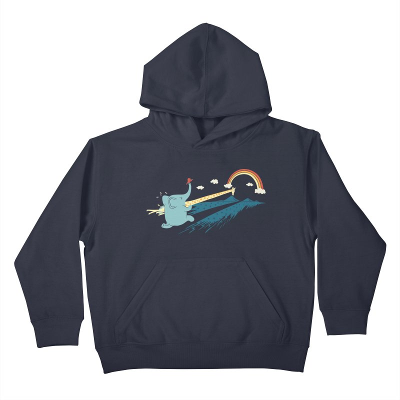 Over the rainbow Kids Pullover Hoody by ilovedoodle's Artist Shop