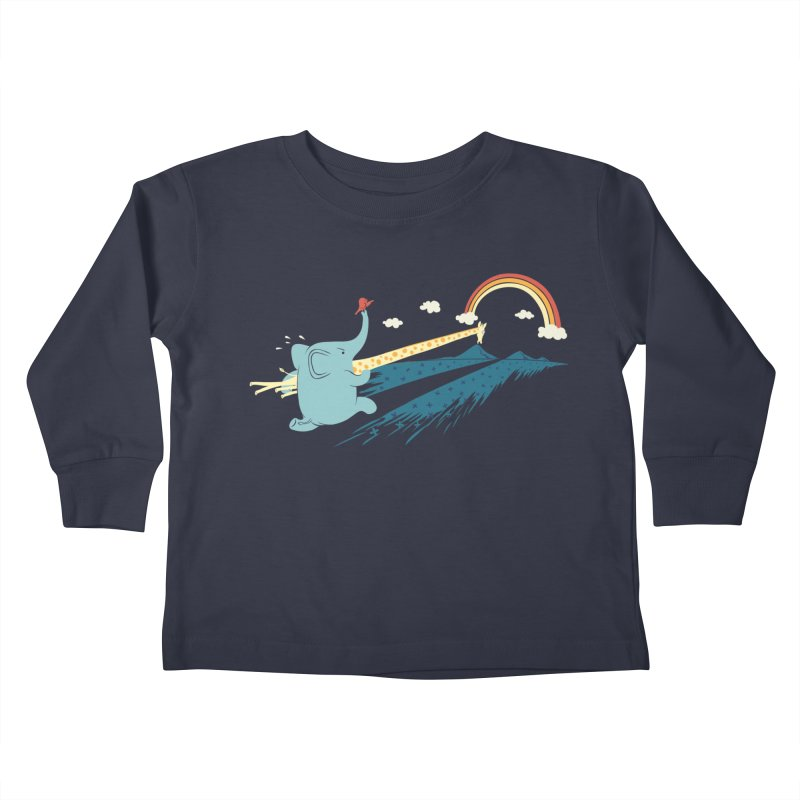 Over the rainbow Kids Toddler Longsleeve T-Shirt by ilovedoodle's Artist Shop