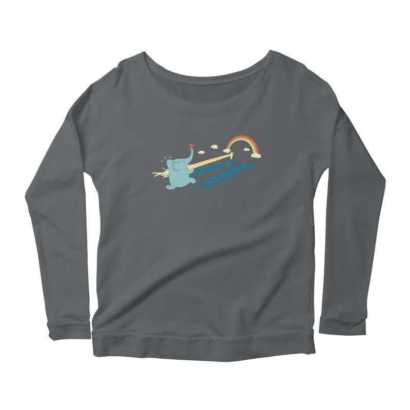 Over the rainbow Women's Longsleeve Scoopneck  by ilovedoodle's Artist Shop