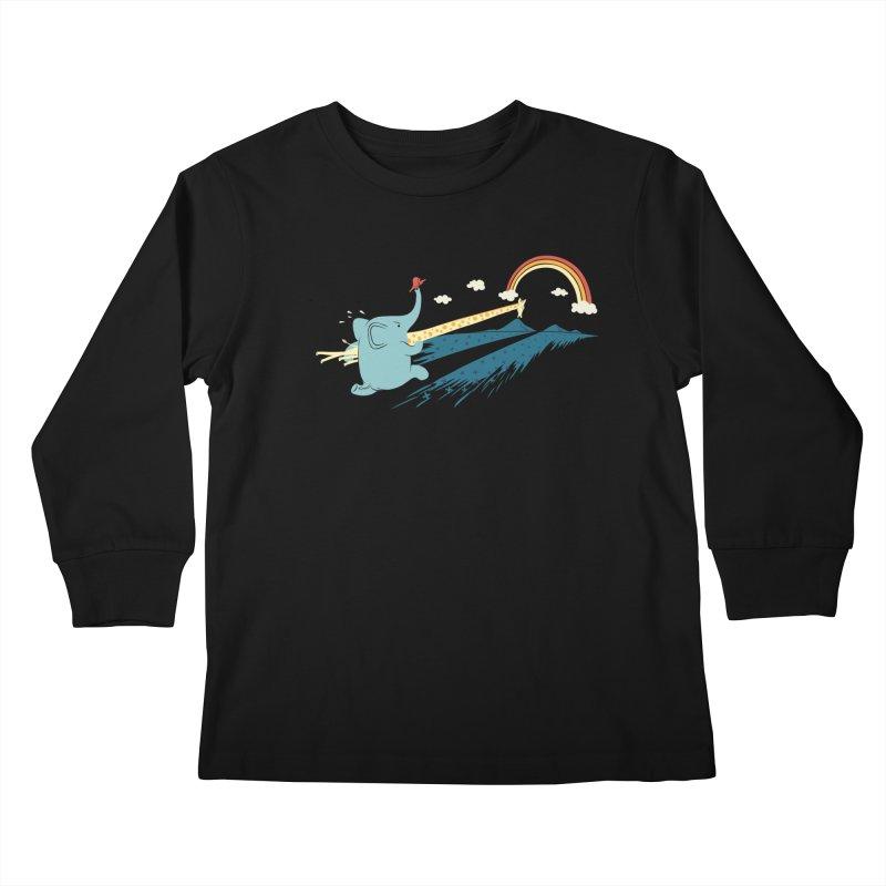 Over the rainbow Kids Longsleeve T-Shirt by ilovedoodle's Artist Shop