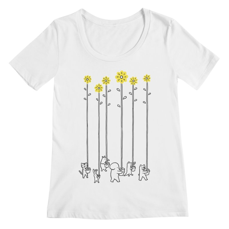 Seeds of hope Women's Scoopneck by ilovedoodle's Artist Shop