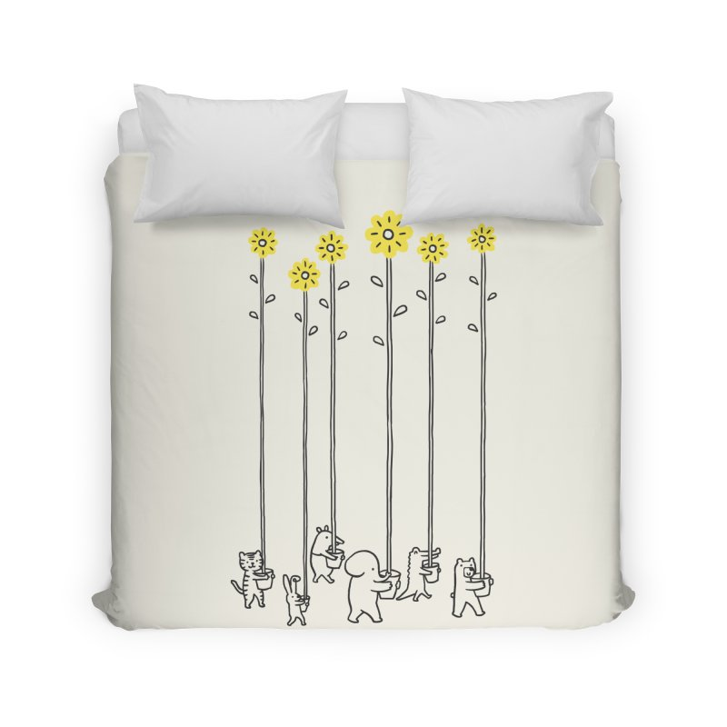 Seeds of hope Home Duvet by ilovedoodle's Artist Shop