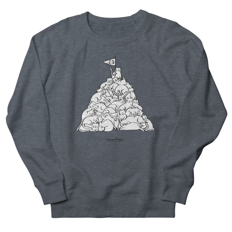 Meowtain Men's French Terry Sweatshirt by ilovedoodle's Artist Shop