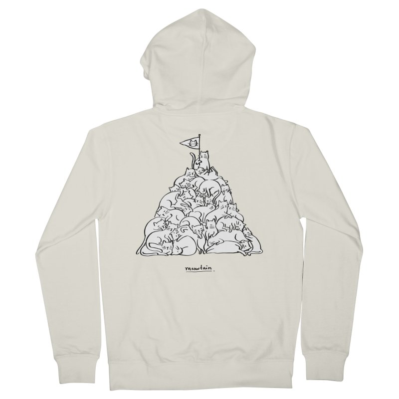 Meowtain Women's French Terry Zip-Up Hoody by ilovedoodle's Artist Shop