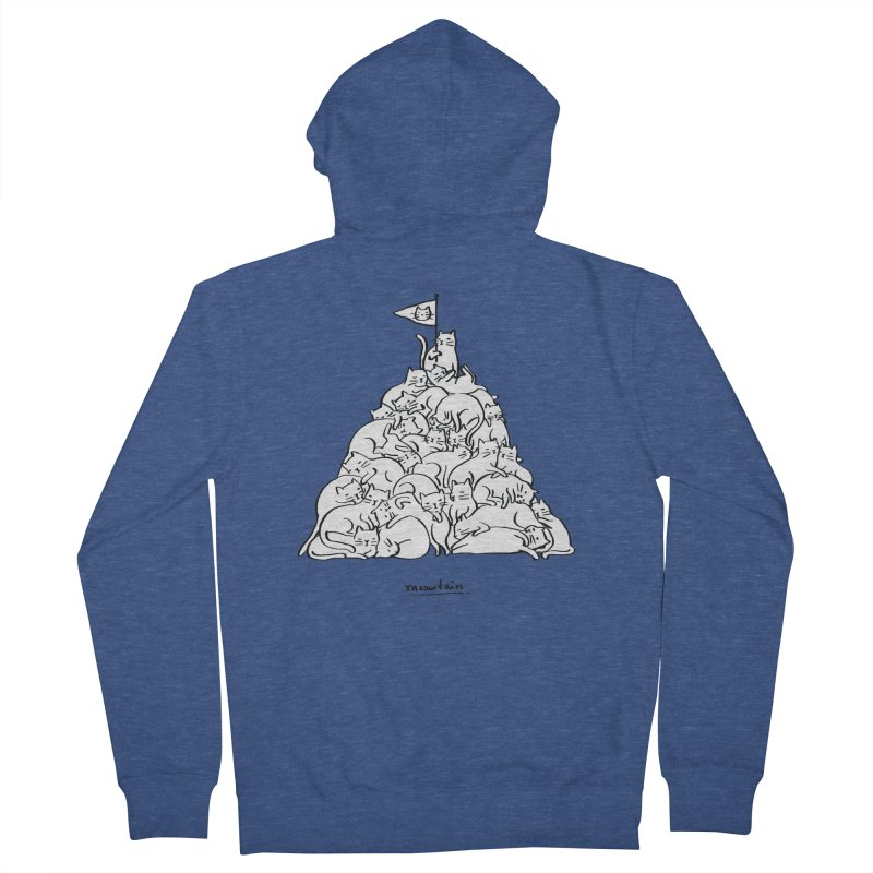 Meowtain Men's French Terry Zip-Up Hoody by ilovedoodle's Artist Shop