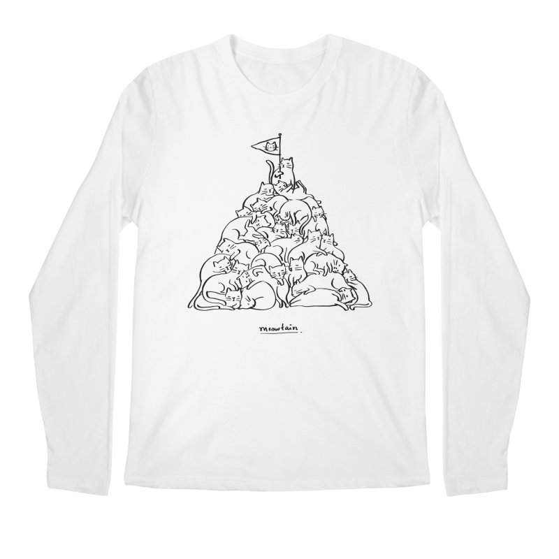 Meowtain Men's Regular Longsleeve T-Shirt by ilovedoodle's Artist Shop