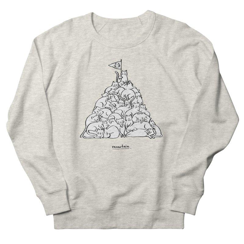 Meowtain Women's French Terry Sweatshirt by ilovedoodle's Artist Shop