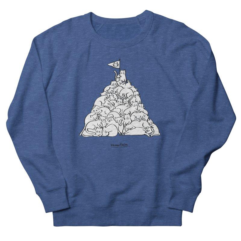 Meowtain Men's French Terry Sweatshirt by ilovedoodle's Artist Shop