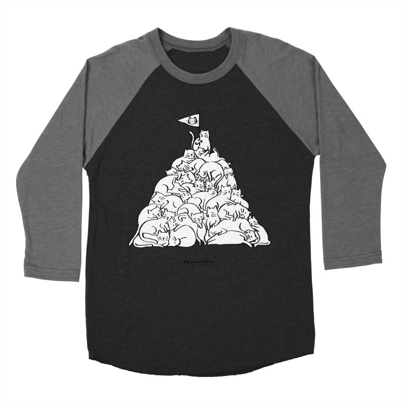 Meowtain Women's Baseball Triblend Longsleeve T-Shirt by ilovedoodle's Artist Shop