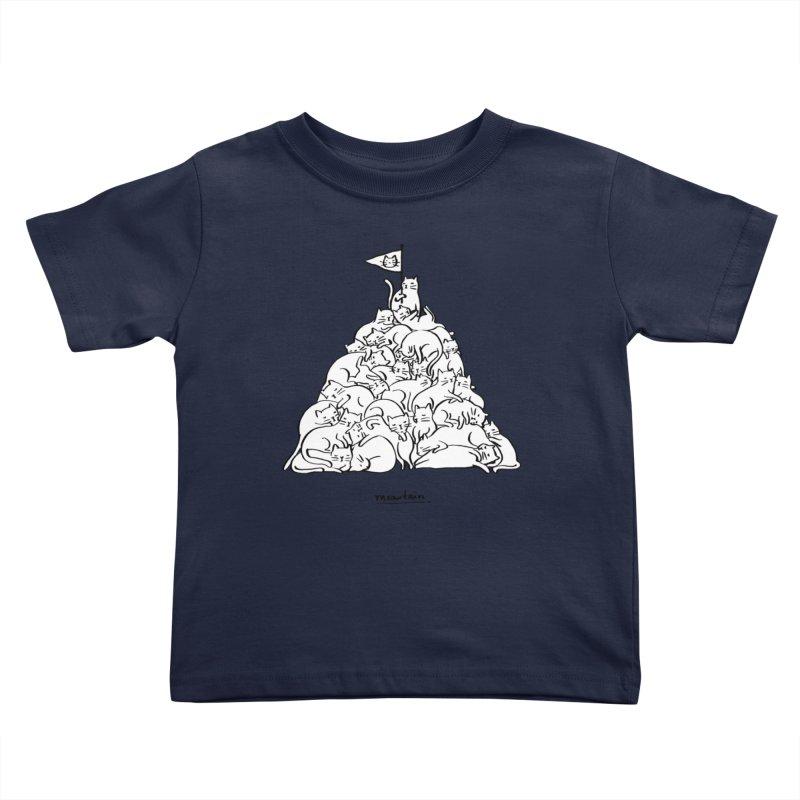 Meowtain Kids Toddler T-Shirt by ilovedoodle's Artist Shop