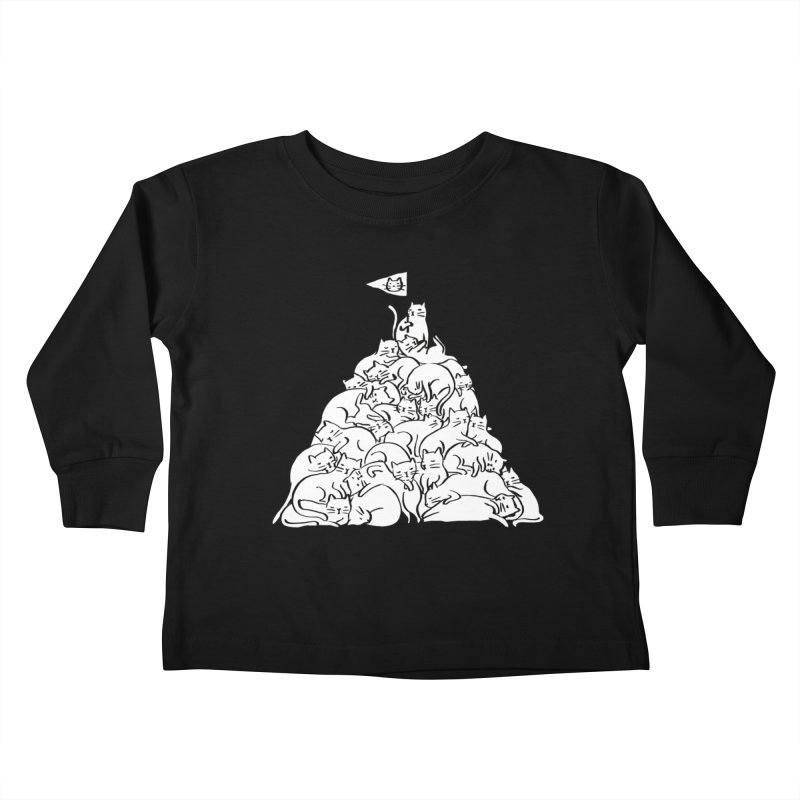 Meowtain Kids Toddler Longsleeve T-Shirt by ilovedoodle's Artist Shop