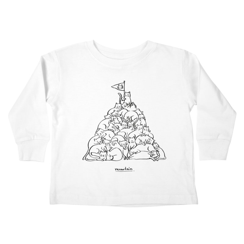 Meowtain Kids Toddler Longsleeve T-Shirt by ilovedoodle's Artist Shop