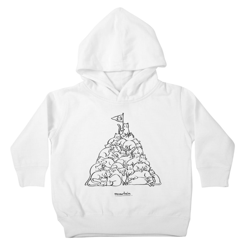 Meowtain Kids Toddler Pullover Hoody by ilovedoodle's Artist Shop