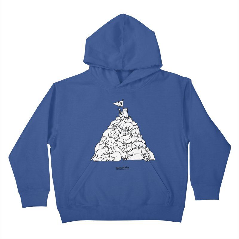 Meowtain Kids Pullover Hoody by ilovedoodle's Artist Shop