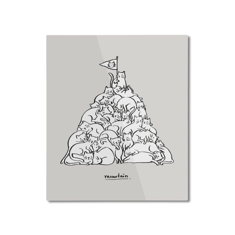 Meowtain Home Mounted Aluminum Print by ilovedoodle's Artist Shop