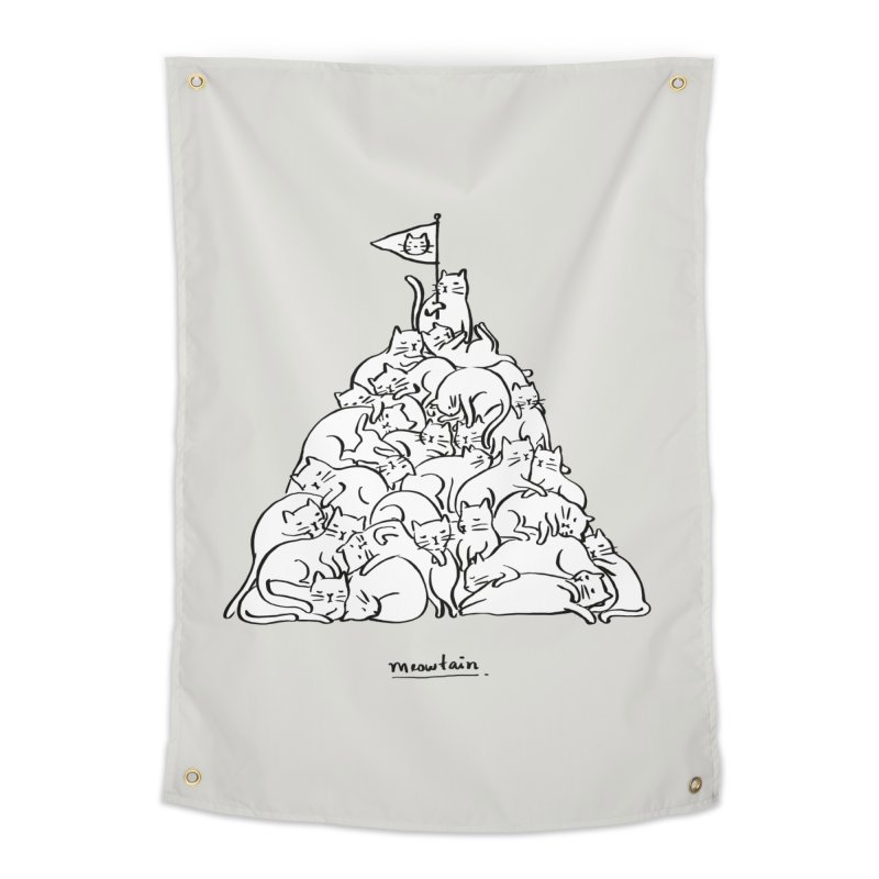 Meowtain Home Tapestry by ilovedoodle's Artist Shop