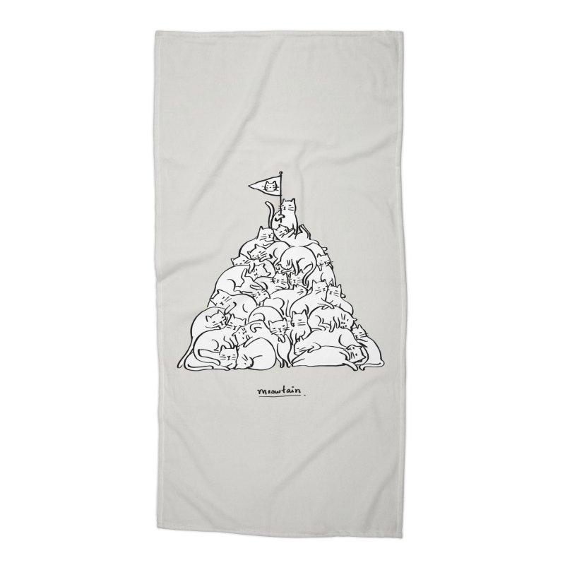 Meowtain Accessories Beach Towel by ilovedoodle's Artist Shop