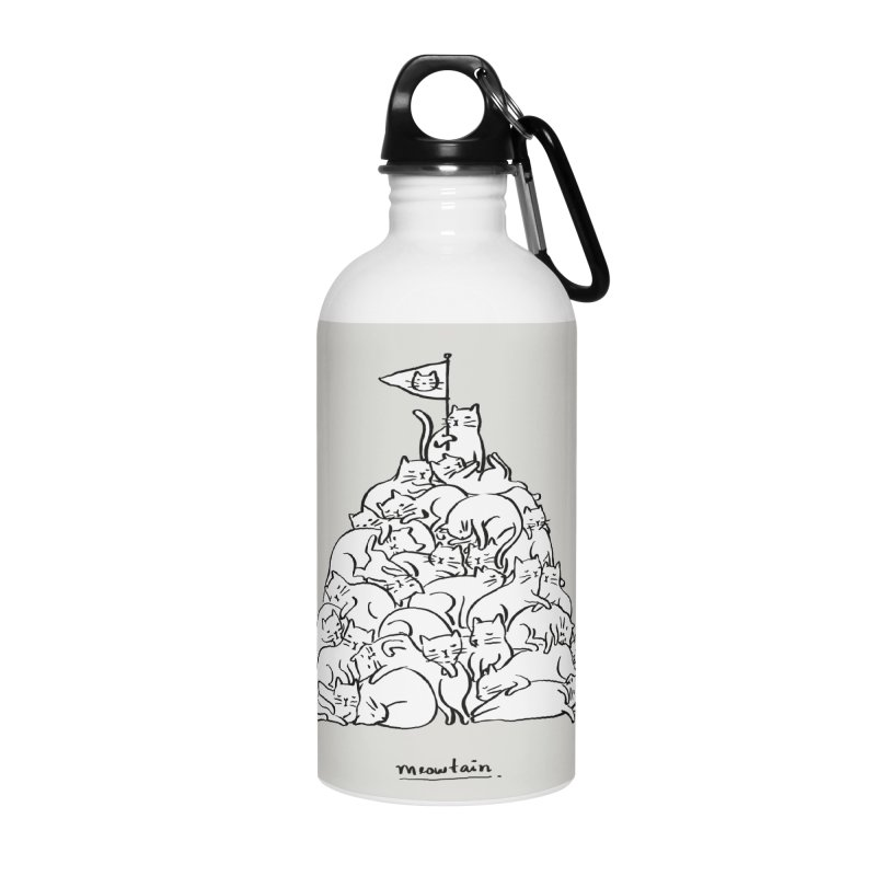 Meowtain Accessories Water Bottle by ilovedoodle's Artist Shop