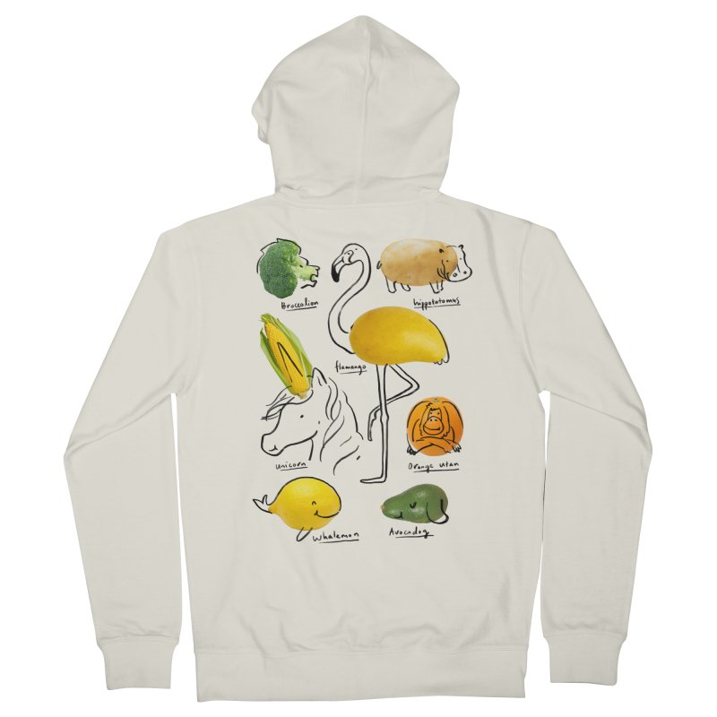 Wild Vegan Men's French Terry Zip-Up Hoody by ilovedoodle's Artist Shop