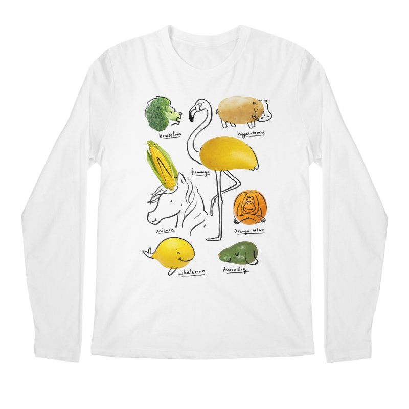 Wild Vegan Men's Regular Longsleeve T-Shirt by ilovedoodle's Artist Shop