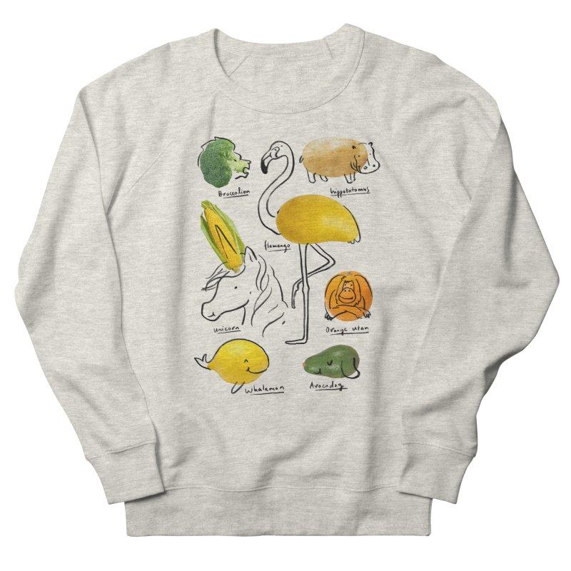 Wild Vegan Men's French Terry Sweatshirt by ilovedoodle's Artist Shop