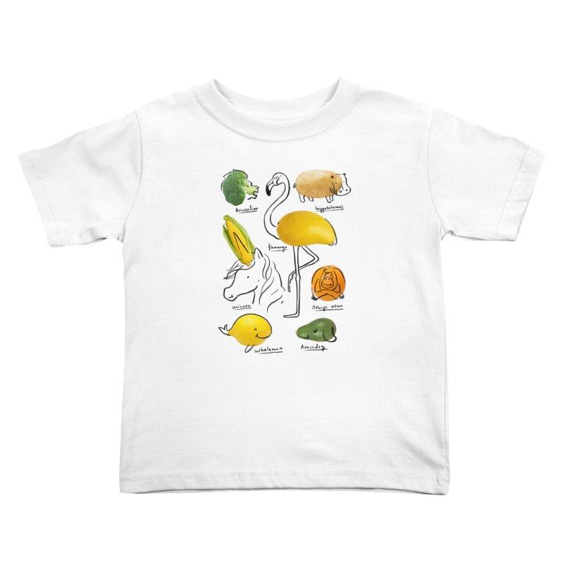 Wild Vegan Kids Toddler T-Shirt by ilovedoodle's Artist Shop