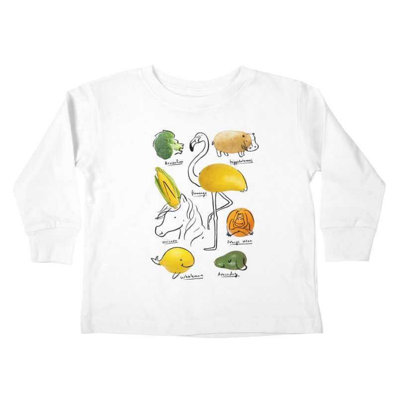 Wild Vegan Kids Toddler Longsleeve T-Shirt by ilovedoodle's Artist Shop