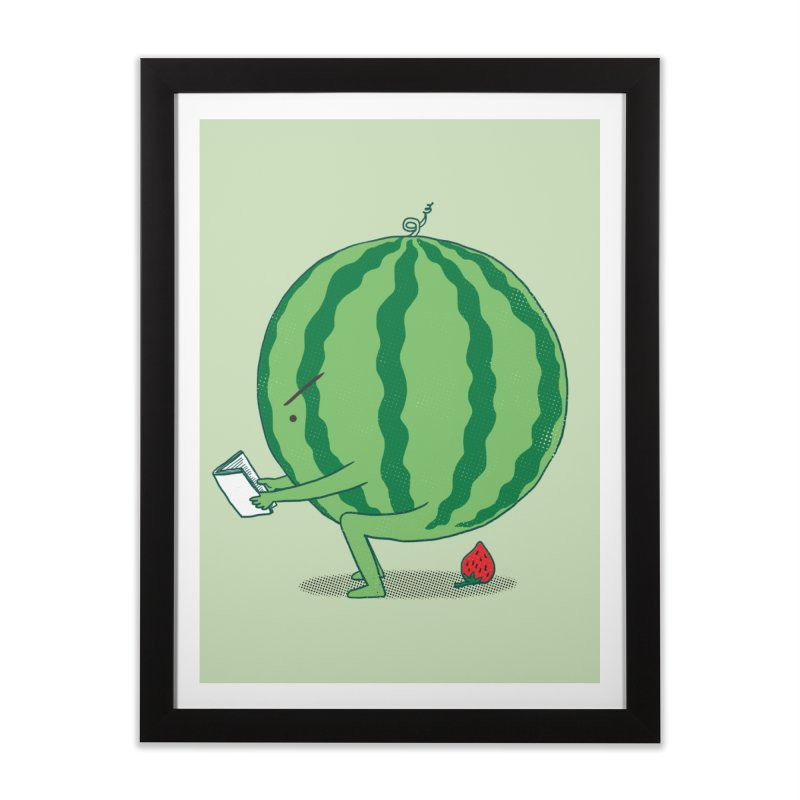 The Making of Strawberry Home Framed Fine Art Print by ilovedoodle's Artist Shop