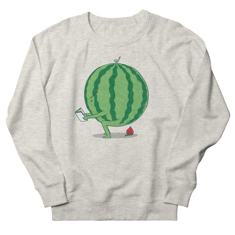 The Making of Strawberry Women's French Terry Sweatshirt by ilovedoodle's Artist Shop