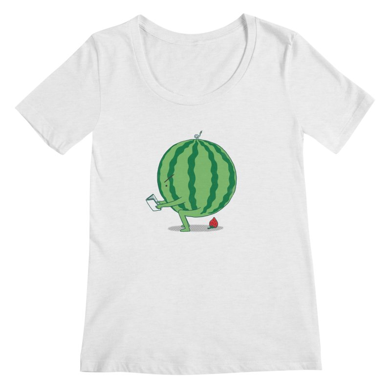 The Making of Strawberry Women's Regular Scoop Neck by ilovedoodle's Artist Shop