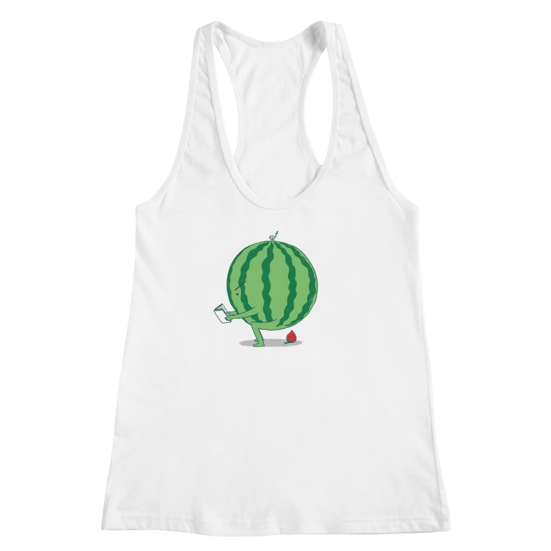 The Making of Strawberry Women's Racerback Tank by ilovedoodle's Artist Shop