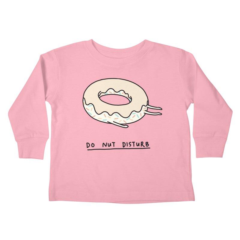 Do Nut Disturb Kids Toddler Longsleeve T-Shirt by ilovedoodle's Artist Shop