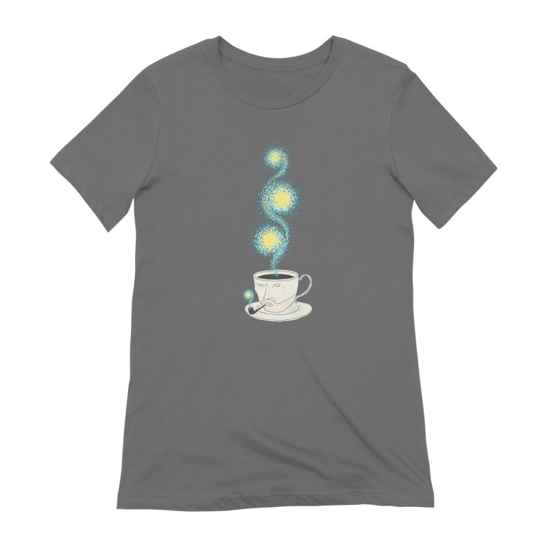Starry starry Coffee Women's French Terry Zip-Up Hoody by ilovedoodle's Artist Shop