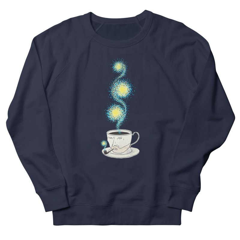 Starry starry Coffee Women's French Terry Sweatshirt by ilovedoodle's Artist Shop