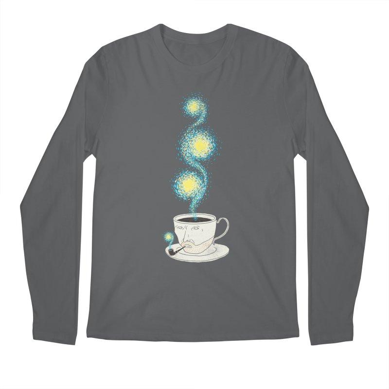 Starry starry Coffee Men's Regular Longsleeve T-Shirt by ilovedoodle's Artist Shop