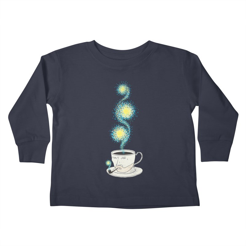 Starry starry Coffee Kids Toddler Longsleeve T-Shirt by ilovedoodle's Artist Shop