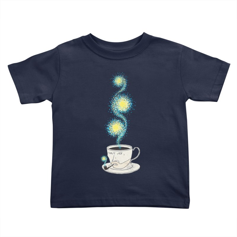 Starry starry Coffee Kids Toddler T-Shirt by ilovedoodle's Artist Shop