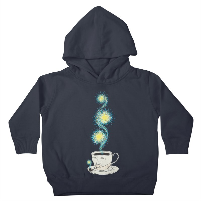 Starry starry Coffee Kids Toddler Pullover Hoody by ilovedoodle's Artist Shop
