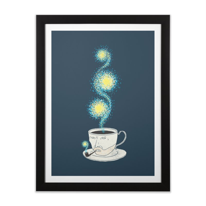 Starry starry Coffee Home Framed Fine Art Print by ilovedoodle's Artist Shop