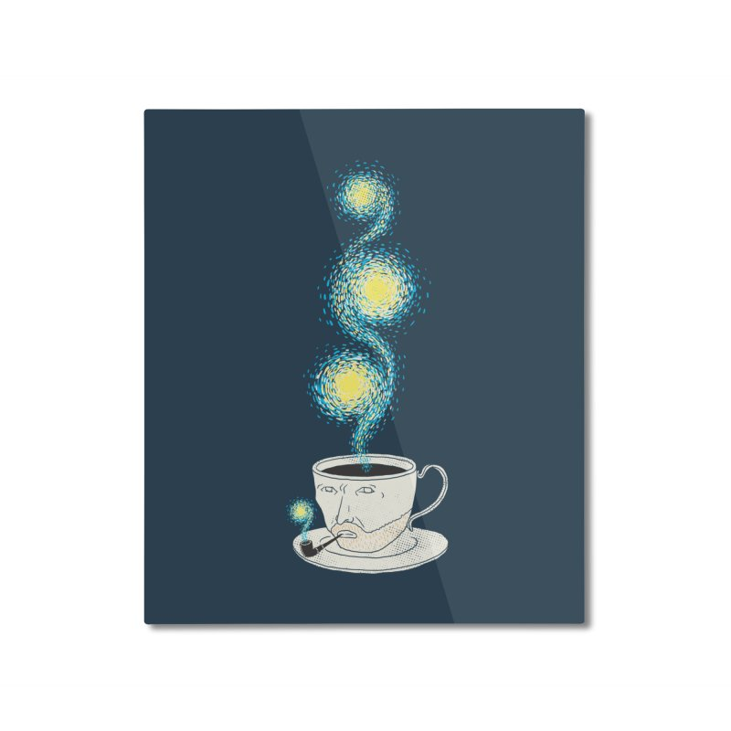 Starry starry Coffee Home Mounted Aluminum Print by ilovedoodle's Artist Shop