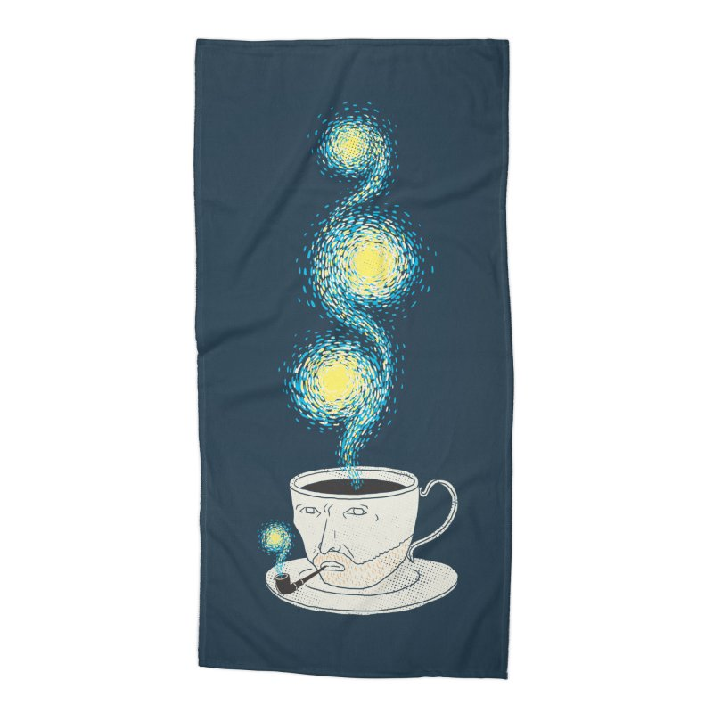 Starry starry Coffee Accessories Beach Towel by ilovedoodle's Artist Shop