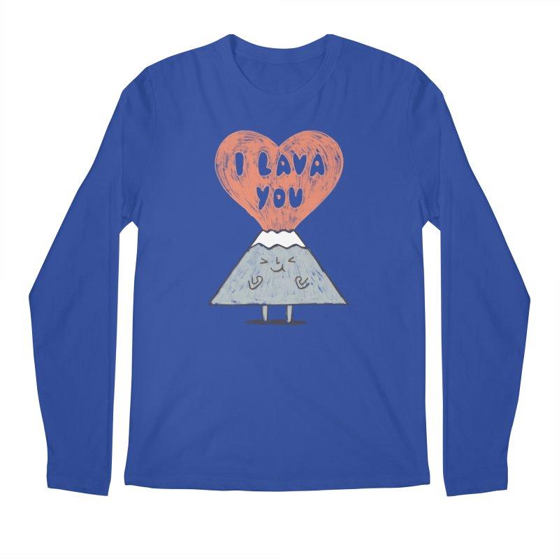 I Lava You Men's Regular Longsleeve T-Shirt by ilovedoodle's Artist Shop
