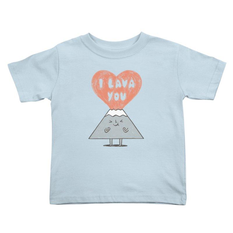 I Lava You Kids Toddler T-Shirt by ilovedoodle's Artist Shop