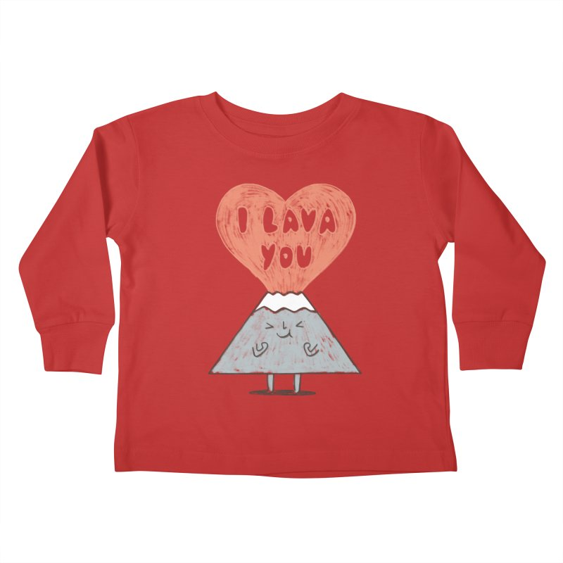 I Lava You Kids Toddler Longsleeve T-Shirt by ilovedoodle's Artist Shop