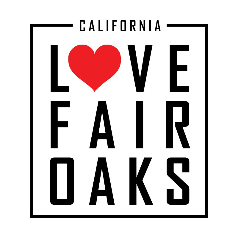 I Love Fair Oaks Black on White Accessories Bag by ilovefairoaks's Artist Shop