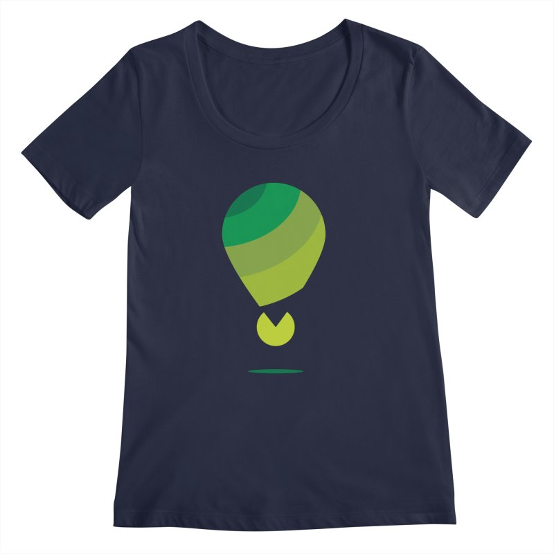 Midnight Hot Air Balloon Women's Scoop Neck by Avo G'day!