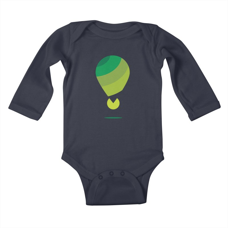 Midnight Hot Air Balloon Kids Baby Longsleeve Bodysuit by Avo G'day!