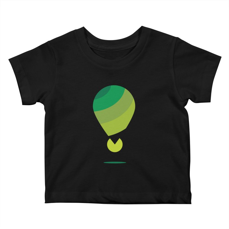 Midnight Hot Air Balloon Kids Baby T-Shirt by Avo G'day!
